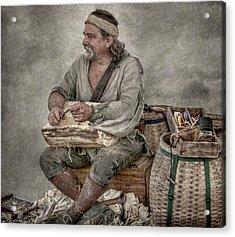 Colonial Woodcarver Portrait Acrylic Print by Randy Steele