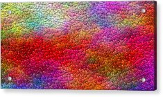 Color Hearts 1c Acrylic Print by Magnus Haarberg