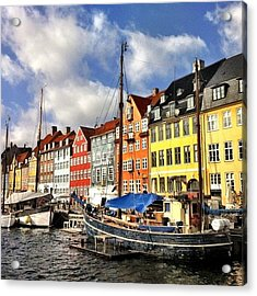 Color In Copenhagen Acrylic Print