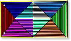 Color Lines Acrylic Print by Rachael McIntosh