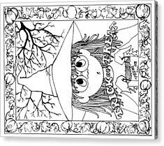 Color Me Card - Halloween Acrylic Print