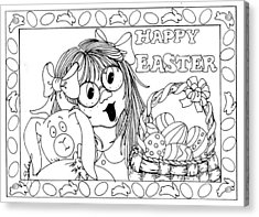 Color Me Card - Easter Acrylic Print