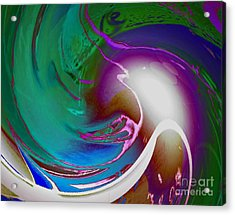 Color Modules Green-blue Acrylic Print