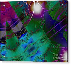 Color Modules Green-blue-lila Acrylic Print