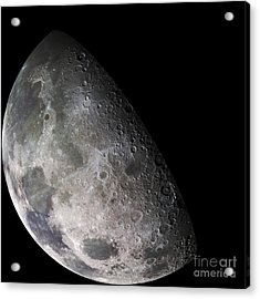 Color Mosaic Of The Earths Moon Acrylic Print by Stocktrek Images