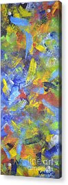 Acrylic Print featuring the painting Color Movement by Kathleen Pio