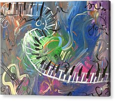 Color Of Music Acrylic Print by Audreyanna Garrett