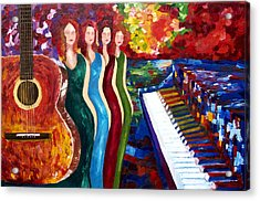 Color Of Music Acrylic Print