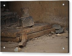 Acrylic Print featuring the photograph Color Of Steel 1 by Fran Riley