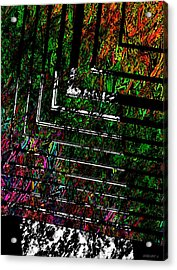 Color Over Black And White Acrylic Print by Mario Perez