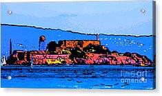 Color Sketch Of Alcatraz In San Francisco Acrylic Print