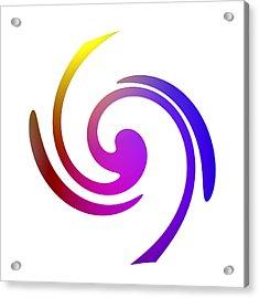 Color Spiral Acrylic Print by Steve K
