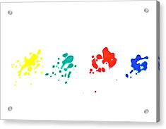 Color Splash Acrylic Print by Joana Kruse