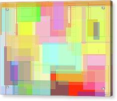 Color Symphony Acrylic Print by Naomi Jacobs