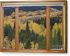 Colorado Autumn Picture Window Frame Art Photos Acrylic Print by James BO  Insogna