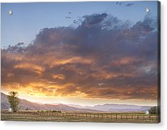 Colorado Evening Light Acrylic Print by James BO  Insogna