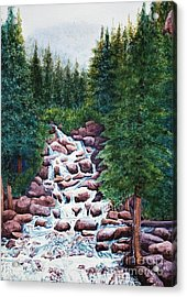 Colorado Falls Acrylic Print by Vikki Wicks