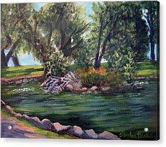 Colorado Pond Acrylic Print by Stephen  Hanson