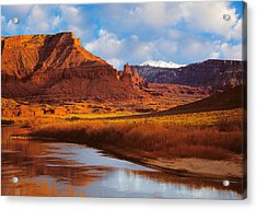 Colorado River At Fisher Towers Acrylic Print by Utah Images