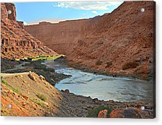 Colorado River Canyon 1 Acrylic Print by Marty Koch