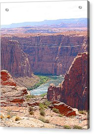 Colorado River In Arizona Acrylic Print by Merton Allen