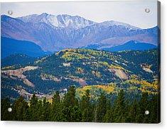 Colorado Rocky Mountain Autumn View Acrylic Print by James BO  Insogna