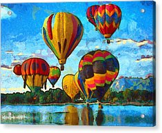 Colorado Springs Hot Air Balloons Acrylic Print