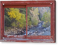 Colorado St Vrain Canyon Red Rustic Picture Window Frame Photos  Acrylic Print by James BO  Insogna