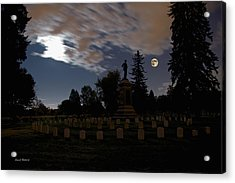 Colorado Volunteers Under The Full Moon Acrylic Print by Stephen  Johnson