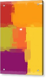 Colorblock Acrylic Print by Heidi Smith