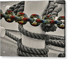Acrylic Print featuring the photograph Colored Chain by Kelly Reber