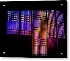 Colored Lines Acrylic Print by Val Oconnor