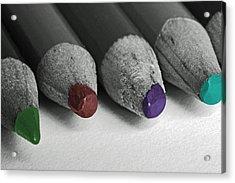 Colored Pencils Acrylic Print by Bill Owen