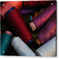 Colored Thread Acrylic Print by Odd Jeppesen
