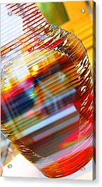 Colored Vase At The Mayo Clinic Acrylic Print by Laura  Grisham
