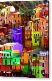 Colored Windows Acrylic Print by Steve K