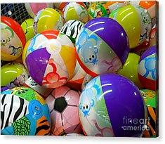 Acrylic Print featuring the photograph Colorful Balls by Renee Trenholm