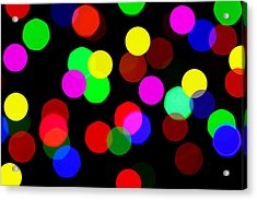 Colorful Bokeh Acrylic Print by Paul Ge