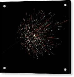 Colorful Burst Of Firecrackers High In The Sky Acrylic Print by Ashish Agarwal