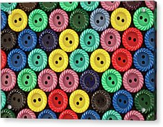 Colorful Buttons Acrylic Print by Jeff Suhanick