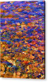 Acrylic Print featuring the digital art Colorful Clear Creek by Brian Davis