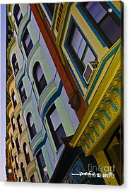 Colorful Coops Acrylic Print