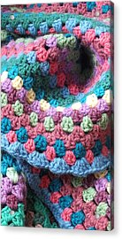 Colorful Crochet Acrylic Print by Emma Manners