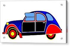 Colorful Darling - Virtual Car Acrylic Print by Asbjorn Lonvig