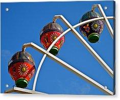 Colorful Ferris Wheel In Glenelg Acrylic Print by Kirsten Giving