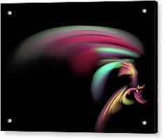 Acrylic Print featuring the digital art Colorful Flash by Ester  Rogers