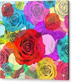 Colorful Floral Design  Acrylic Print by Setsiri Silapasuwanchai