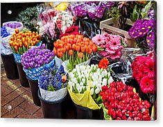 Colorful Flower Market Acrylic Print
