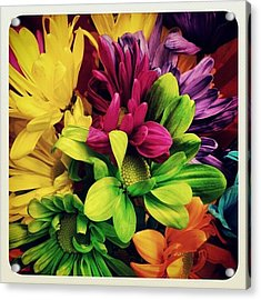 #colorful #flowers Acrylic Print