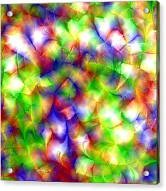 Colorful Fractal Abstract  Acrylic Print by Gina Lee Manley
